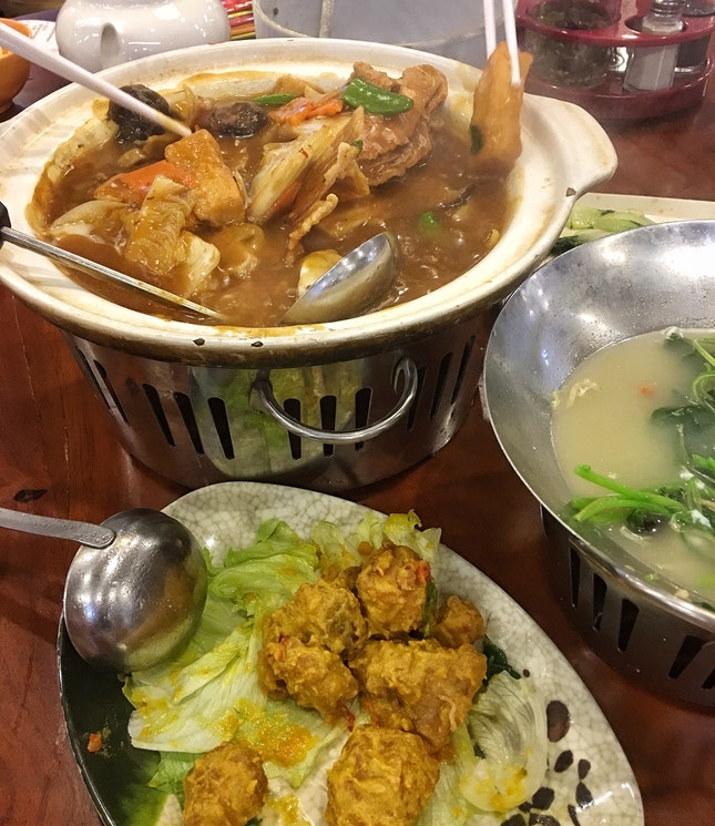 Claypot Fish Head ($26), Ultraman Chicken