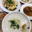 Kampung Poached Chicken + Beansprouts + Braised Egg + Porridge (RM30.70 for two)