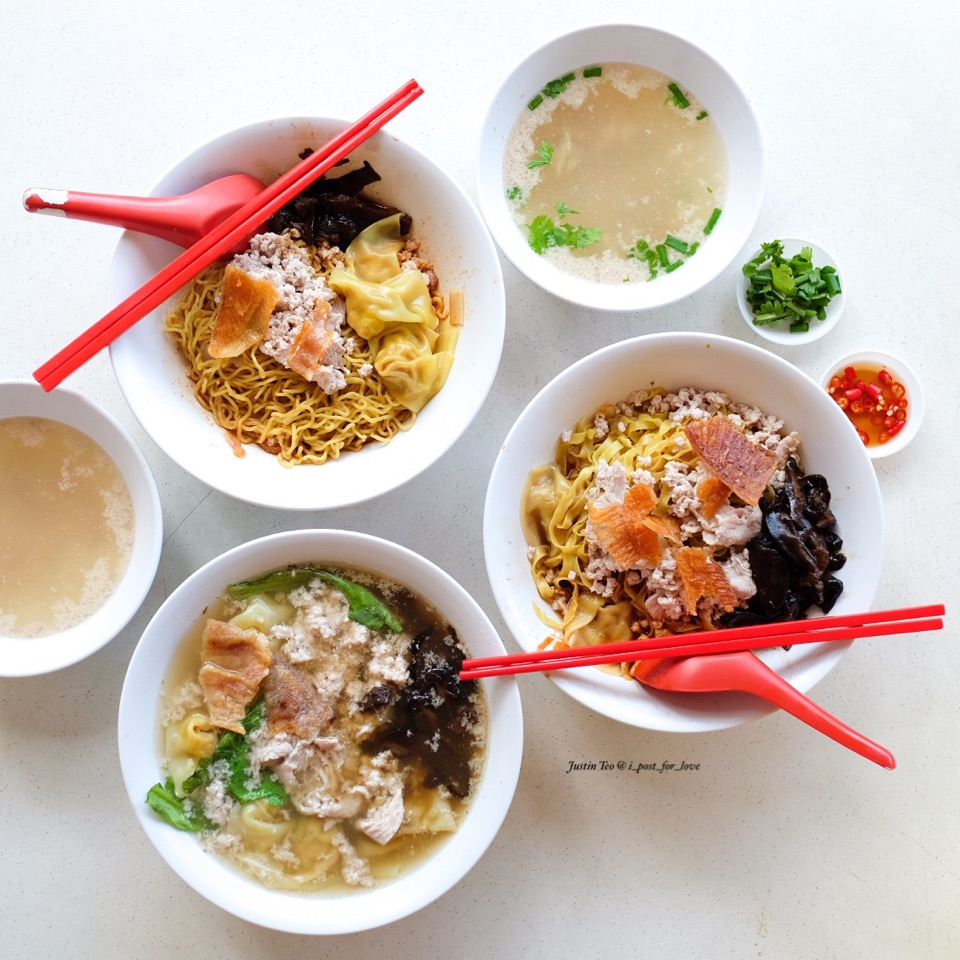 Mushroom minced pork mee and teochew dumpling soup [$4/$5/$6. Pictured total is $16].