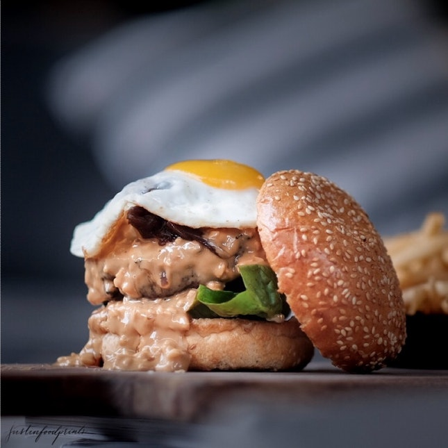 Wagyu Beef Burger with Peanut Butter ($18++).