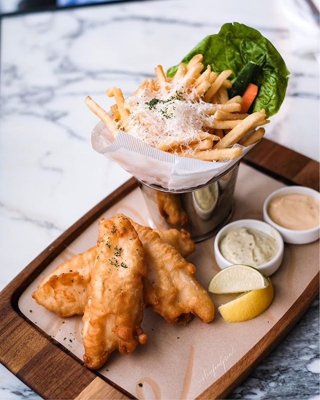 Tiger Beer-Battered Fish & Chips ($37++ including $5 top up to swap normal fries to truffle fries).