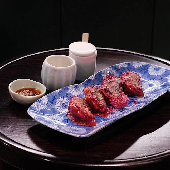 Beef Gyoza ($11).
