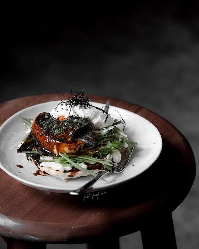 [New dish] Foie Gras Okonomiyaki ($18).