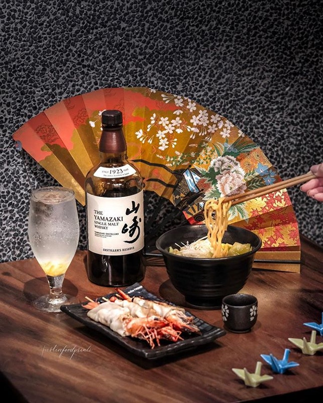 Whisky Ramen with Whisky Tiger Prawns Gyoza Set ($28 per set).