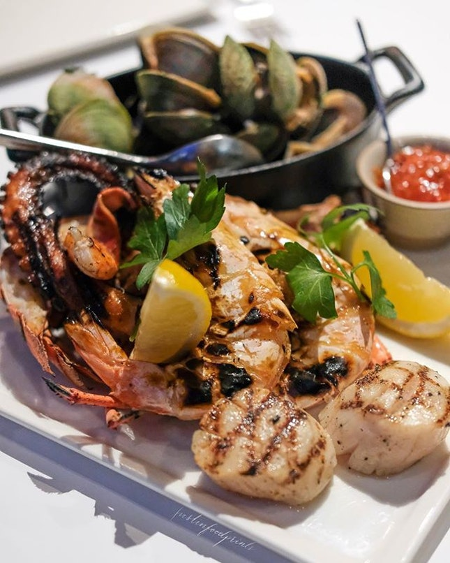 Seafood Platter ($134++).