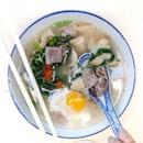 Mee Hoon Kuey with pig intestines ($6).