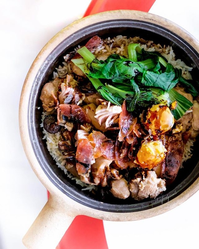 Claypot Chicken Rice ($14 with additional $1 for more salted fish, and $1 for more salted egg).