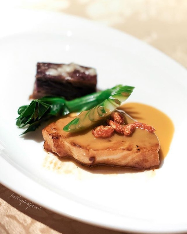 Cod in Lobster Bisque (included in Festive Menu at $168/$178/$198++).