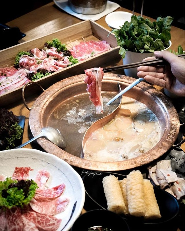 Wagyu and New Zealand Snapper in Pig Stomach Soup, 猪肚汤.