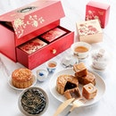 [Available starting today] Peach Blossoms Baked Mooncakes ($68.80 to $70.80 for box of 4).