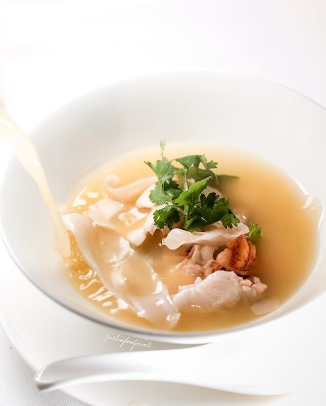 Bridges Lobster Soup (included in $238++/pax CNY menu).