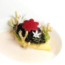 """Amur Caviar (included in my nine-course $218++ """"Gastronomy"""" dinner menu)."""