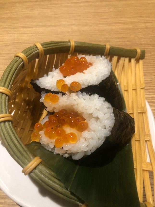 Ikura Onigirazu ($5++) Falls Apart Easily