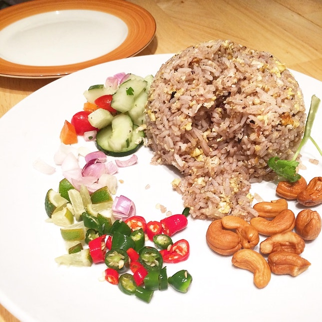 Olive Fried Rice With Pork