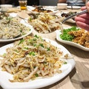 """The must order discovery here among the nine dishes we tried - fried lao shu fen (""""mouse tail"""" vermicelli) ($13.50) that has a """"wok hei"""" aroma with springy vermicelli pieces in between bean sprouts and pieces of egg omelette."""
