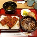 Unagi bento with cold soba.