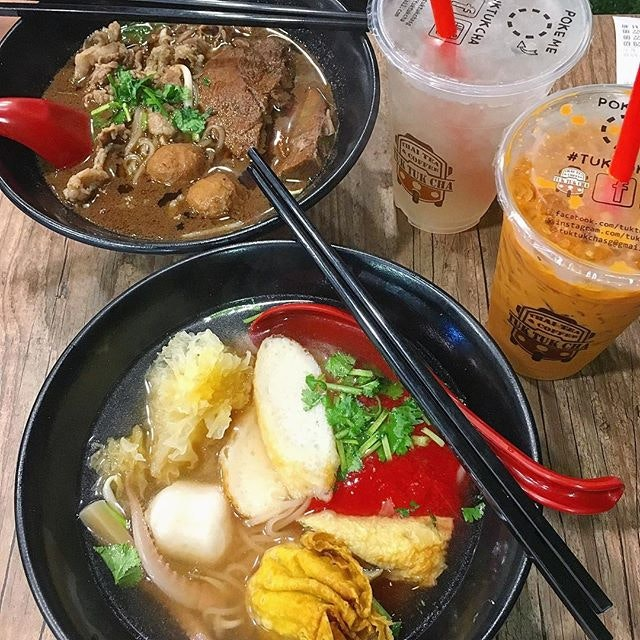 Beef boat noodle $10.80 and their new Yong tau foo (rather disappointing but noodle was good) for $9.80, comes with a drink.