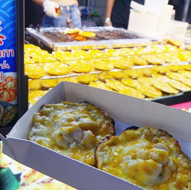 [Taiwan, Taipei🇹🇼] Shilin Night Market - Grilled cheese scallop 🤤🧀🐚 #jxeatstravel