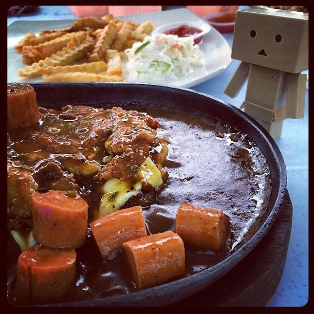 #ss2 #murni #sizzling #chickenchop #dinner #danboard