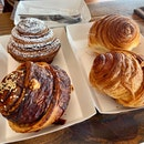 Cinnamon Roll, Chocolate Roll, Cheesymite Roll & Croissant Roll ($4++ each)