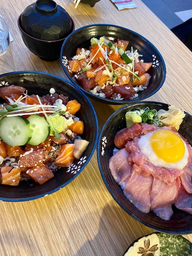 Assortment Of Sashimi Dons