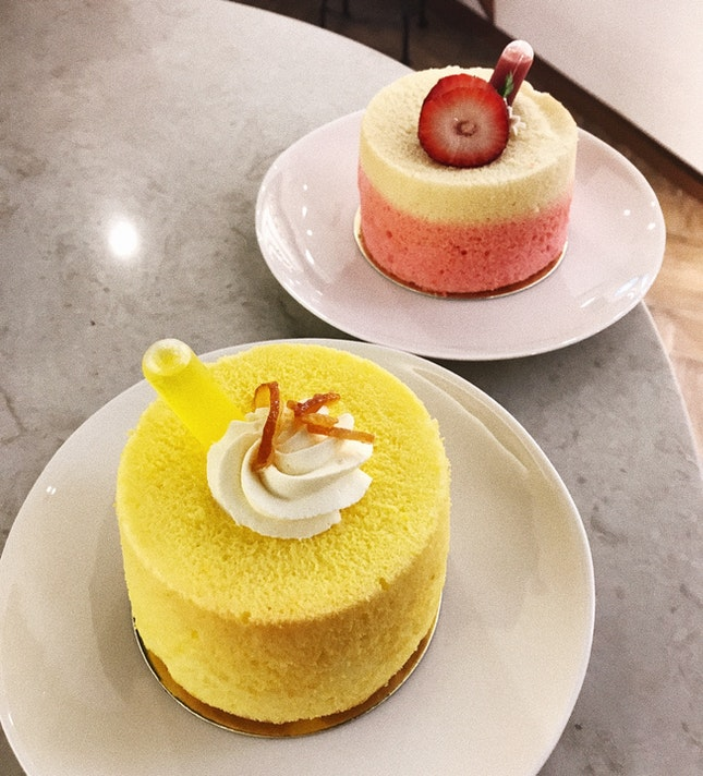 Yuzu & Strawberry Chiffon Cakes ($6.80/each)