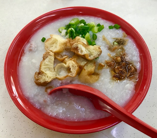Pork Porridge With Egg ($3.50)