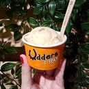 Udderly delicious Peanut Butter Crunch ice cream from Udders 🐄🍦 .