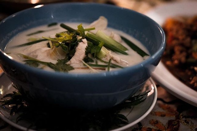 This is an amazingly fragrant and flavourful Chinese herbed Thai soup.