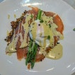 Nut Free Sweet Potato Rosti With Poached egg And Smoked Salmon