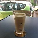 Iced Houjicha Latte
