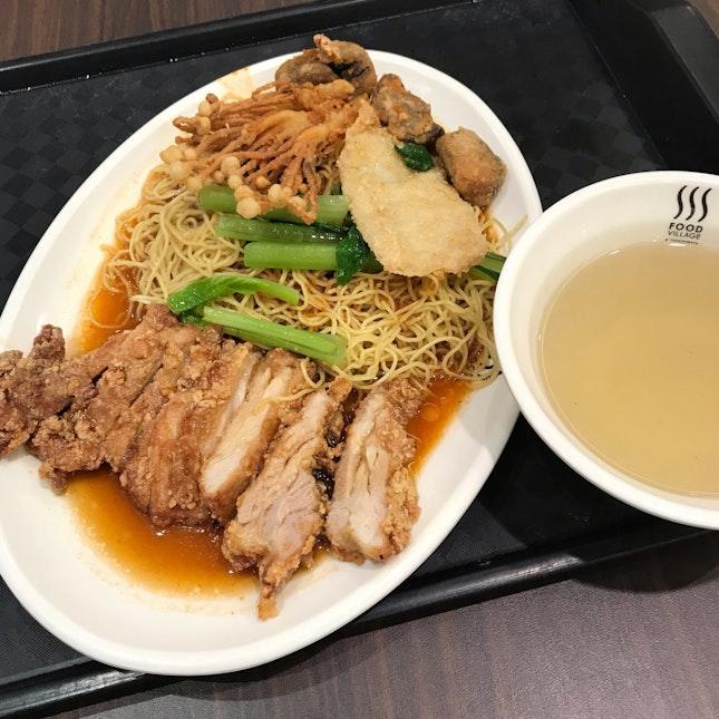 Chicken Cutlet Noodles ($7)