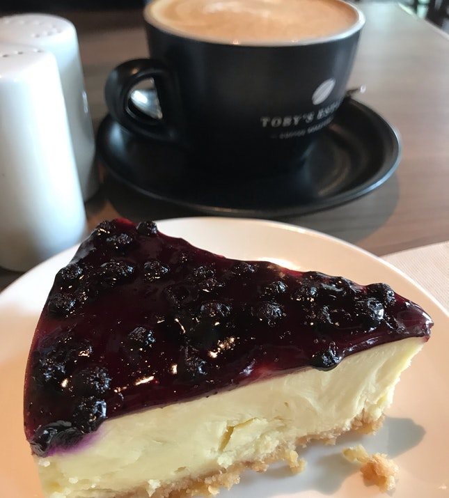 Coffee Set (Blueberry Cheese Cake)