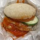 Chicken Rice Burger Set ($10.90)