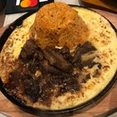 Volcano Fried Rice With Beef And Cheese ($13.80)