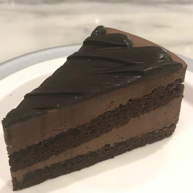 Valrhona Dark Choc Cake ($6.80)