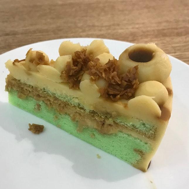 Pandan Coconut Gula Melaka Cheese Cake ($6.90)