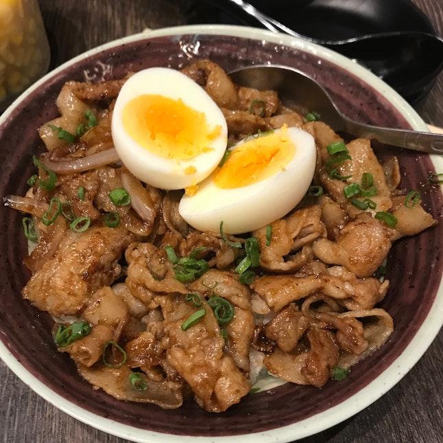 Pork Shogayaki Don