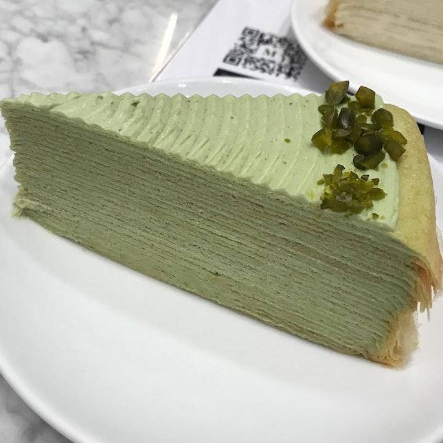 Pistachio Mille Crepe ($11)