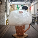 """Reminiscing my younger days with this whimsical drink at @bananatreesg ☁️ Candy floss is such a childhood thing and a sweet treat I've abandoned since my primary school days, in favour of more """"sophisticated"""" snacks."""
