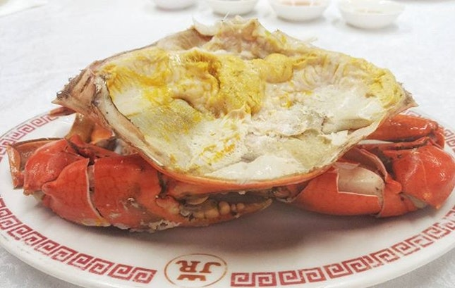 Can never resist the golden milt of cold crabs.