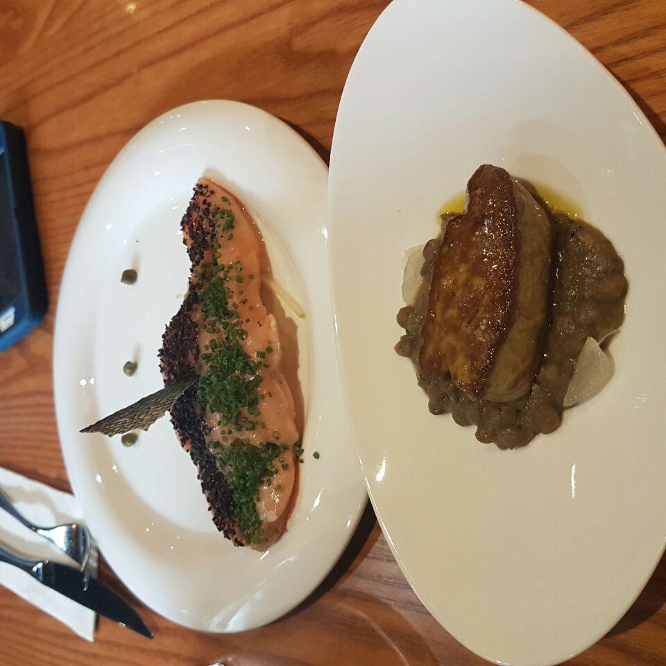 Foie Gras And Salmon