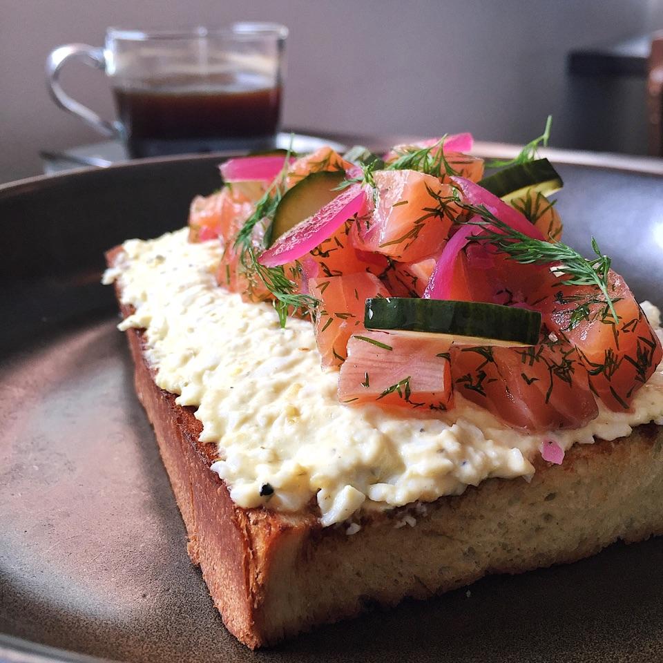 Gravlax Egg Toast ($16)