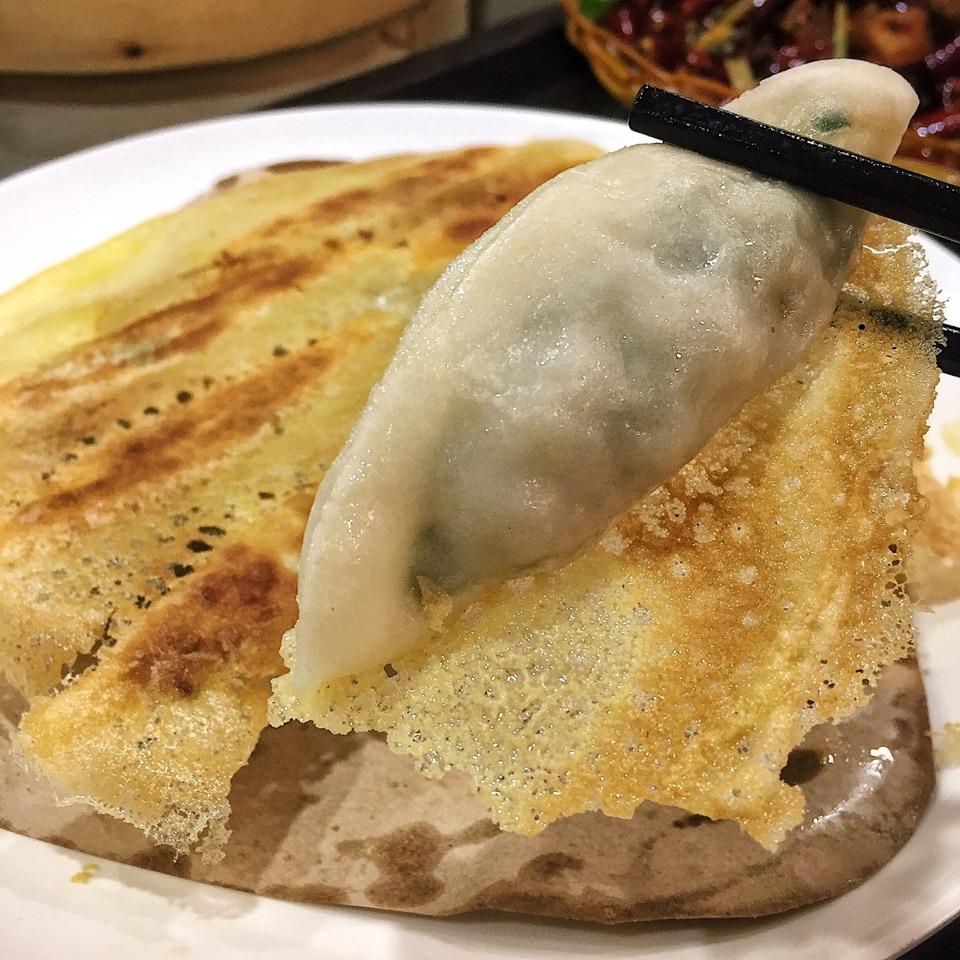 Fried Dumplings w/ Leek & Shrimp ($7.80)