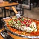 Grilled Sea Bass in Mala ($35.90)