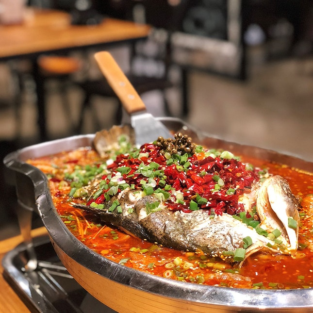 Grilled Sea Bass in Mala ($35.90)