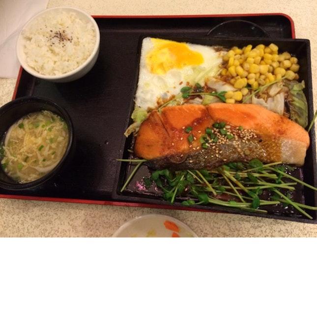 Teppanyaki Salmon Set