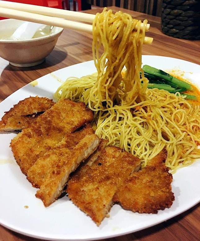 Choice of fried chicken, fish or pork cutlet to go with noodles, horfun or curry rice.