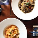 Delectable pastas here besides their wood fired pizza.
