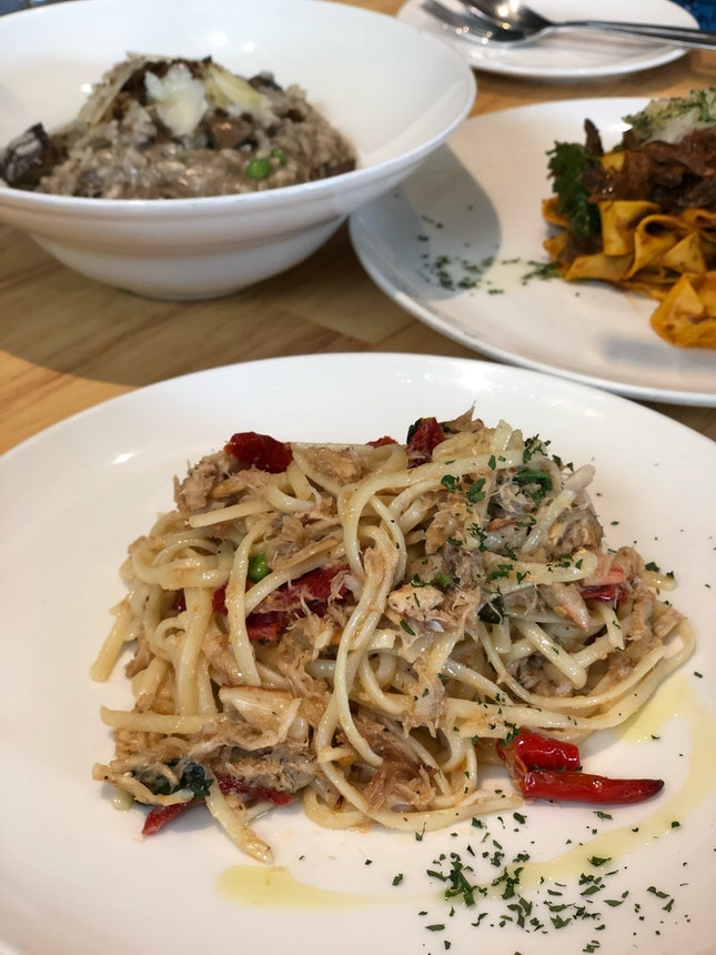 Crab Linguine Pasta
